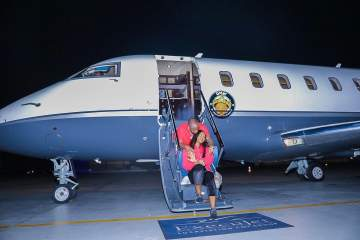 Davido: Air OBO is Making its First Trip... with Chioma on Board 😉