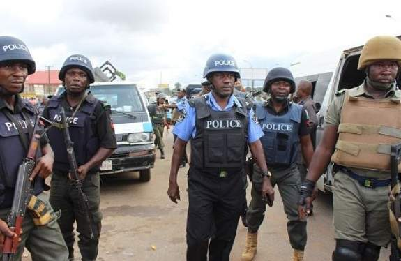 Nigerian Police Officers At Work