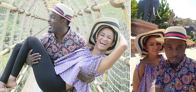 AY AND ADESUA On The Set Of 10 Days In Sun City
