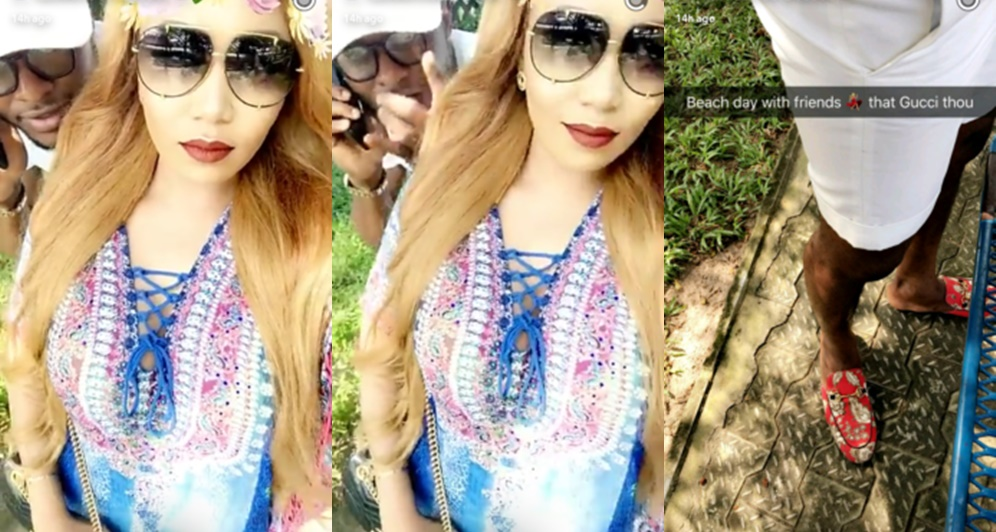 Vera Sidika Hangs Out With Ubi Franklin In Lagos