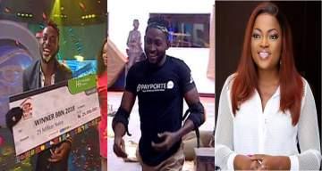 Funke Akindele reacts as Miracle wins #BBNaija 2018