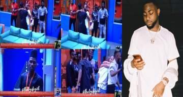 #BBNaija: Davido and his DMW crew members visit housemates (Video)