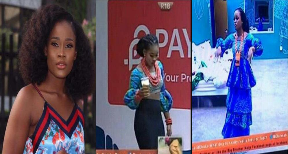 #BBNaija: Nigerians react after Cee-c ripped off Payporte outfit and tagged it 'Nonsense' (Screenshots)