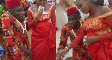 Wedding Photos Of A Physically Challenged Man And His Pregnant Bride Goes Viral