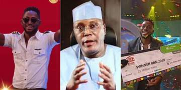 #BBNaija: 'Miracle is proof that Nigerian youths are hardworking, innovative and creative' - Atiku Abubaka