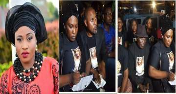 Photos from candlelight procession for Aisha Abimbola by Nollywood Actors