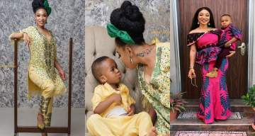 Tonto Dikeh Celebrates Children's Day With Her Son, King Andre (Photos)