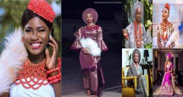 Battle of the brides: Which female BBNaija Housemate rocked the bridal outfit best? (Photos)