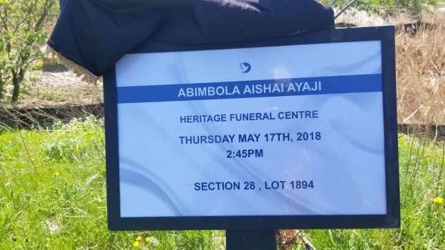Burial Ceremony Of Aisha Abimbola 4