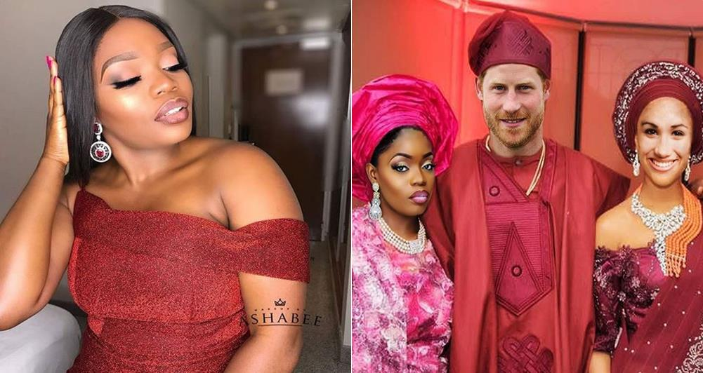 Bisola shares inside information and photo from Prince Harry and Meghan Markle's private traditional wedding
