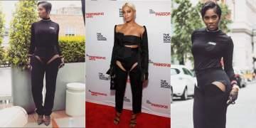 Battle of the peek-a-boo pants- Tiwa Savage vs Solange Knowles