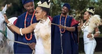 #BBNaija: Ifu Ennada & Leo share new bridal themed photos