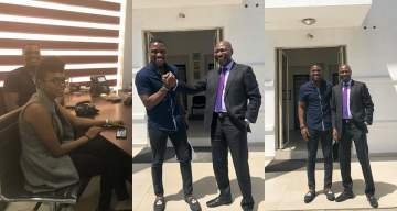 #BBNaija: Tobi Bakre takes photos with his Billionaire dad