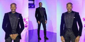 #BBNaija: Leo looks dapper as he rocks a black suit in latest photos