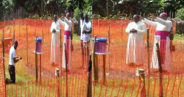 Catholic Bishop prays for the priest infected with Ebola in Congo