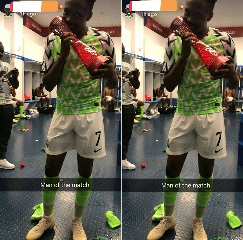 Ahmed Musa Shows Off His Man Of The Match Award Lailasnews