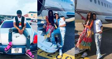 Wizkid and Naomi Campbell jet out to Milan for a show (Photos)