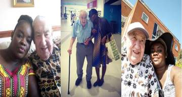 """I met my husband through Yahoo Yahoo"" - Lady who is married to a 90-year-old white man discloses how she met him"
