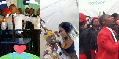 Nigerians react to photos of Choir Master with a scantily-clad Lady
