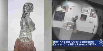 Parents in debt after son breaks $132,000 sculpture