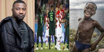 John Dumelo Shades Super Eagles After Match With Croatia, Nigerians Savagely reply him