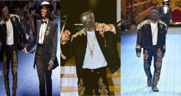 Wizkid breaks record, becomes the first African artist to walk at D&G fashion show (Photos+Video)