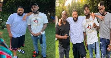 Davido hangs out with DJ Khaled at his mansion in US (Photos+Video)