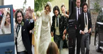 Games of Thrones' Kit Harrington ties the knot with his co-star, Rose Leslie (Photos)