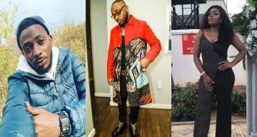 Davido & Bisola react to video of May D's babymama telling their son to abuse him