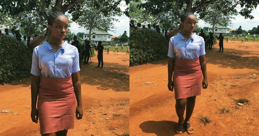 BBNaija's Bambam slays in a secondary school uniform (Photo)