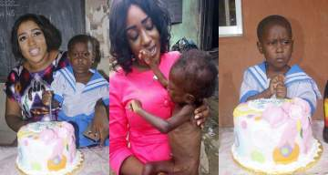 """""""I thought it was a small dead dog""""- lady celebrates once malnourished child she rescued in Calabar as she turns 3 (Photos)"""