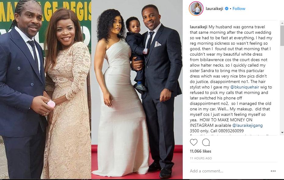 Laura Ikeji Says Her Court Wedding Photos Were Photoshopped Lailasnews 1 2