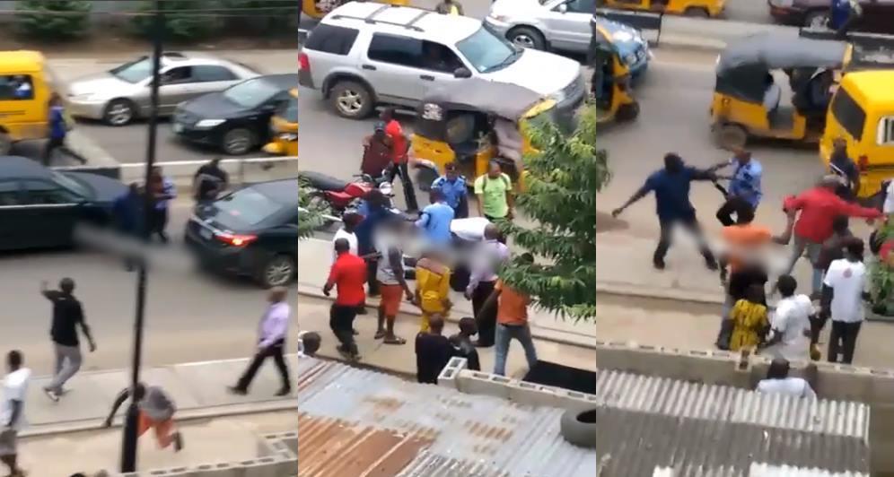"Policeman ""kills"" bike rider in Lagos (Video)"