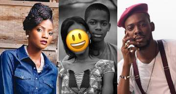Simi, Falz others react to Adekunle Gold's loved up throwback photo with a mystery girl