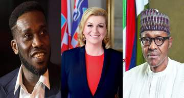 Jay-Jay Okocha shades Buhari after being asked a question about the beautiful Croatian President