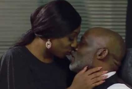 Dakore Akande Kissed Richard Mofe Damijo
