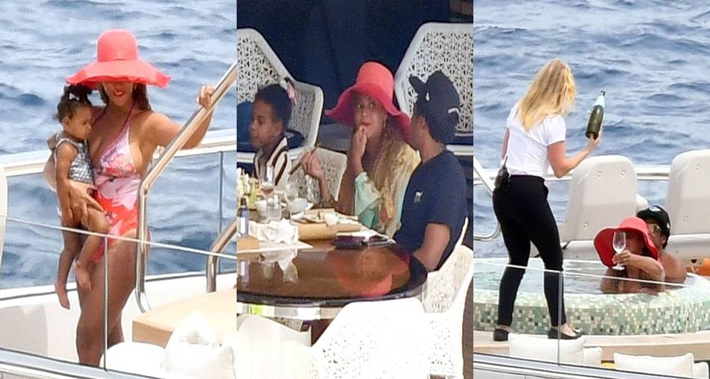 Beyoncé and Jay-Z enjoy a relaxing afternoon on a $180million luxury yacht (Photos)