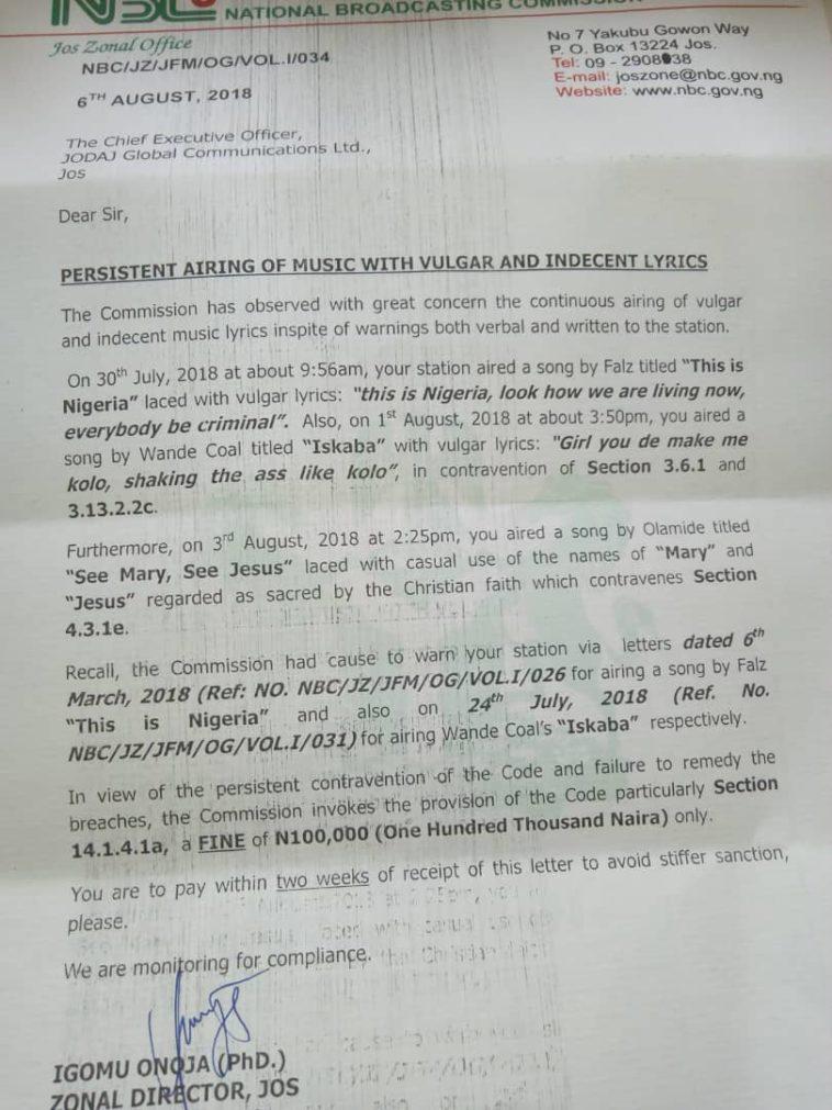NBC Bans Falz Song This Is Nigeria For Vulgar Lyrics Lailasnews 1 1 1