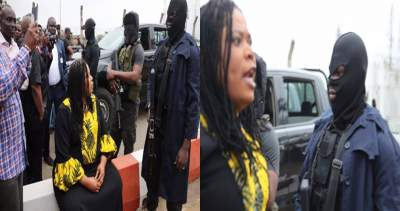 I Dare You To Fire Your Bullets - Angry Female Lawmaker Confronts Masked DSS Men At NASS (Video)