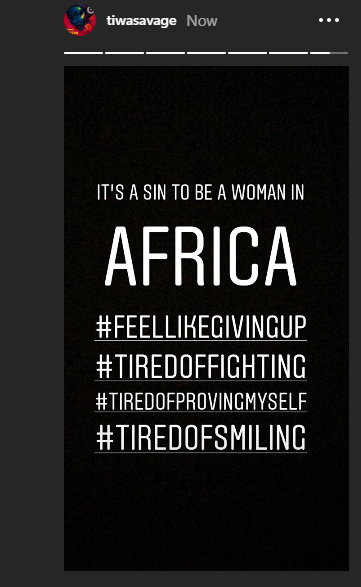 Its A Sin To Be A Woman In Africa Tiwa Savage Breaks Down Lailasnews 1