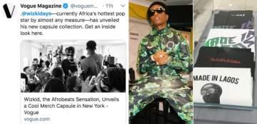 Vogue declares Wizkid as Africa's hottest pop star