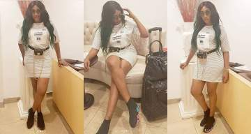 Actress, Oge Okoye causes storm on social media as she flaunts her hot Legs (Photos)