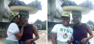 Female Corper Shows Off Her Mom Who Sold Fish To Sponsor Her Education