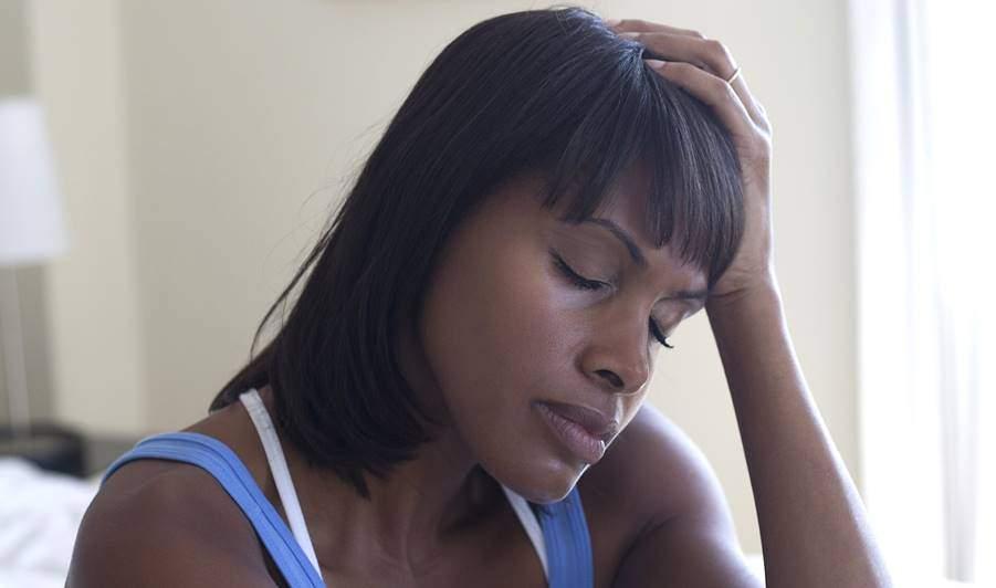 Sad Black Woman Tile
