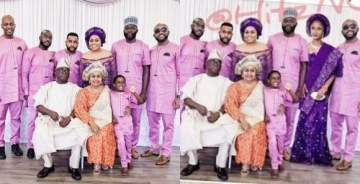 See What Happened After Banky W Wished For Adesua To Be Photoshopped Into The Wellington Family Photo