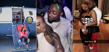 Assuranc :- Davido brings Chioma on stage during his performance in Cotonou (video)