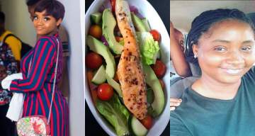 Davido's girlfriend, Chioma epic response to a lady who mocked her vegetable salad