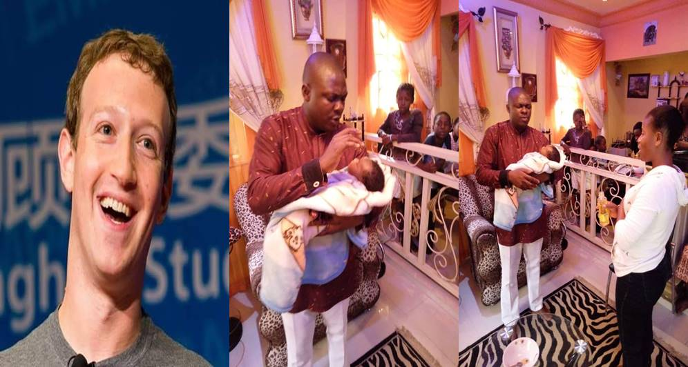 Nigerian man reveals why he named his son after Mark Zukerberg