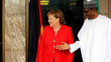 German Chancellor Angela Merkel Arrives Nigeria