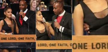 Pastor Elis Apologizes For Groping Ariana Grande At Aretha's Funeral